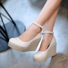 Cheap shoe novelties, Buy Quality shoe directly from China shoes runing Suppliers: dear buyer:Each size increased by cm.If you don't know what size you buy , please leave a message about your fee Bohemian Bridesmaid, Bridesmaid Dresses, Cheap Shoes, Womens High Heels, Women's Pumps, Wedding Shoes, Pu Leather, Espadrilles, Wedges