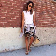 Fashionable Ways to Style a Button-Down Shirt | POPSUGAR Fashion