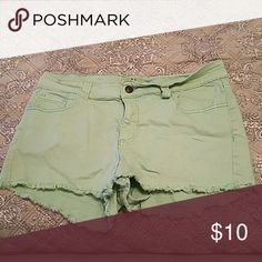 Shorts from Altered State. Sea foam green shorts. Gently used. Stretch fabric. Lost Shorts Jean Shorts