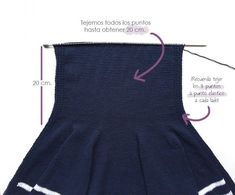 Chaqueta de punto marinera DIY - Tutorial y patrón Knit Vest, Baby Sewing, Sew Baby, Baby Knitting, Cheer Skirts, Pullover, Diy, Tops, Women