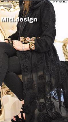 Stylish Dresses For Girls, Elegant Dresses For Women, Modest Dresses, Abaya Fashion, Muslim Fashion, Fashion Dresses, Mode Abaya, Mode Hijab, New Hijab Style
