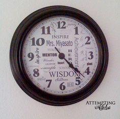 Love the idea of a 'subway art' clock