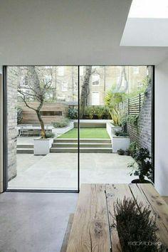 Luxurious Minimal Interior Design Inspiration # 42 - Lilly is Love Modern Garden Design, Backyard Garden Design, Backyard Landscaping, Interior Garden, Interior And Exterior, Back Gardens, Outdoor Gardens, Minimalist Garden, Design Jardin