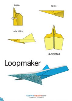 These free instructions on how to fold a paper airplane are perfect for Paper Airplane Steps, Paper Airplane Folding, Paper Airplane Models, Paper Models, Paper Planes, School Age Activities, Activities For Kids, Paper Airplanes Instructions, Origami Paper