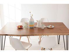 RENO - Solid mango wood dining table 71'' - Natural