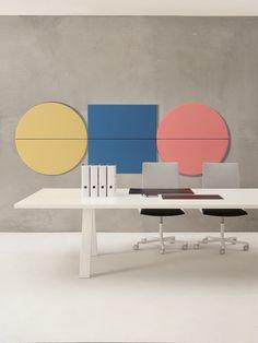 Panneaux acoustiques décoratifs PARENTESIT by Arper | design Lievore Altherr Molina