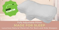 Luxurious, ergonomic pillow. Made from beautiful natural materials. Purchase at 30% off RRP during our Kickstarter campaign.