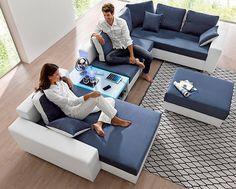 Spectacular ID Wohnlandschaft wahlweise mit Bettfunktion Tisch RGB Beleuchtung oder mit USB Anschluss Jetzt bestellen unter