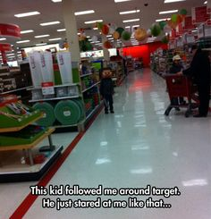 This kid was creeping me out