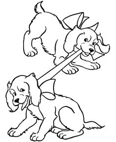 Coloring Pages Of Cute Puppies