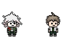 We see a Tsundere Hinata trying to sphere the determind Komaeda in a complex mating ritual.