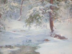 A Winter Idyll Painting by Walter Launt Palmer | Oil Painting