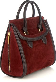Alexander Mcqueen Heroine Bag in Brown (burgundy) - Lyst