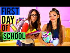What to EXPECT on the First Day of School! BACK TO SCHOOL 2015! Niki and Gabi - YouTube