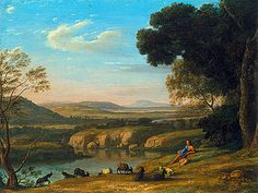 Claude Lorrain Paintings | ... Landscape with Goatherd, 1640 | Claude Lorrain | Painting Reproduction