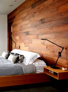 Arredamento Low Cost Design Made in Italy Home Design Decor, House Design, Interior Design, Home Decor, Mexican Bedroom, Wood Wall Design, Nordic Bedroom, Pallet Walls, Wood Paneling