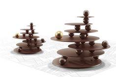 Noël 2013 - Sapin Le Magnifique - Wittamer - Design Kate Houben - Chocolat noir Grand Cru Wittamer.