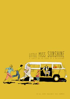 Little Miss Sunshine by La Belette Rose as Poster Iconic Movie Posters, Movie Poster Art, Iconic Movies, Good Movies, Poster Series, Little Miss Sunshine, Forrest Gump, Cinema, Alternative Movie Posters