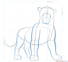 How to draw Simba from Lion King step by step. Drawing tutorials for kids and beginners.