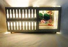 1950's atomic fish bowl/tv lamp/planter ~ SOLD