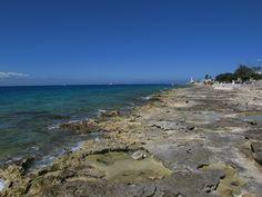 The coastline of Cozumel