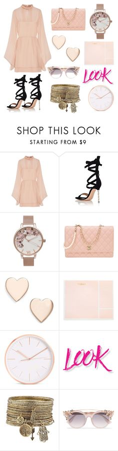 """""""love the work look"""" by k-aren-love ❤ liked on Polyvore featuring Emilio Pucci, Gianvito Rossi, Olivia Burton, Chanel, Poppy Finch, Sugar Paper, NYX and Jimmy Choo"""