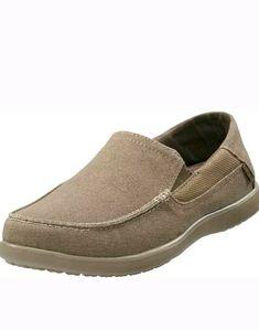 06d1c05d5 Crocs Mens Santa Cruz 2 Luxe Loafer brown khaki memory foam NEW sz 12  Crocs
