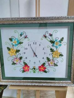 İgne oyasi saat Different Styles, Clock, Embroidery, Wall Art, Crafts, Home Decor, Felt Pillow, Needlepoint, Manualidades