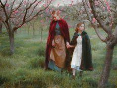 """Blossoms"", by American artist - Morgan Weistling - ), Oil on canvas Morgan Weistling, Munier, Winslow Homer, Fantasy Paintings, Art Studies, Beautiful Paintings, American Artists, New Image, Painting & Drawing"