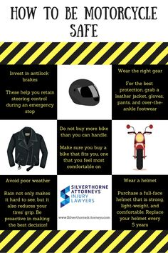 Did you know that there were 5,000 people killed in motorcycle accidents in 2015? That is a 10% increase from 2014 and close to an all time high of 5,300 in 2008. Motorcycle accidents are preventable though! Here are some tips on how you can stay safe on that Harley of yours.  #silverthorneattorneys #personalinjury #ocpersonalinjury #motorcycle #accidents #motorcycleaccidents #orangecounty