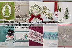Stamp & Scrap with Frenchie: Frenchie's Team Showcasing the Holiday stamps