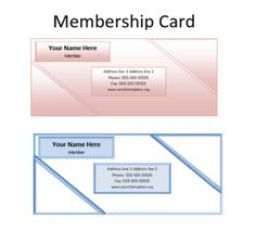 Card Templates For Word Membership Card Template  Word Excel & Pdf Templates  Templates .