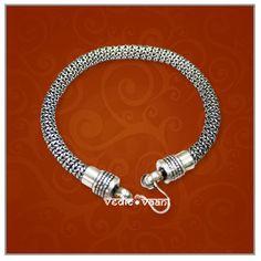 Snake silver bracelet–thick–Design II