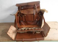 Vintage French Leather Tool Bag Messenger Bag Travel Bag Artists Bag Steam Punk | eBay