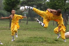 shaolin monks playing soccer!