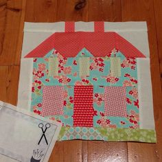 """""""Thank you @alisonwhite31 for my gorgeous block❤️❤️ I love it. I have a thing about houses, will  make the sampler quilt homely! ❤️❤️#iheartbandcround2hive8 #bonnieandcamillesampler  #iheartbandcsamplerhive8"""" Photo taken by @mrslill62 on Instagram, pinned via the InstaPin iOS App! http://www.instapinapp.com (05/21/2015)"""