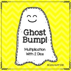 Halloween bump for multiplication with two dice - print & play freebie!