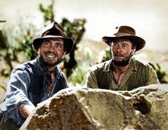 1948 - Humphrey Bogart i Tim Holt a 'The Treasure of the Sierra Madre' (El tesoro de Sierra Madre), Warner Bros, dirigida per John Huston Humphrey Bogart, Bette Davis, Westerns, Bogie And Bacall, The Big Sleep, John Huston, Den Of Geek, Star Wars, New York
