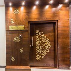 New Main Door Design Modern Architecture Ideas Doors Interior, Indian Main Door Designs, Entrance Decor, Entrance Design, Pooja Room Door Design, Wood Doors Interior, Home Entrance Decor