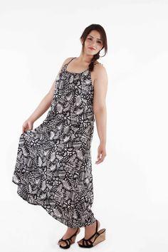 hi-low beach gown (black)