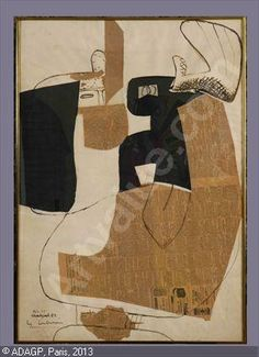 LE CORBUSIER,Collage 1952 sold by Stair Galleries, Hudson (NY), on Saturday, June 24, 2006