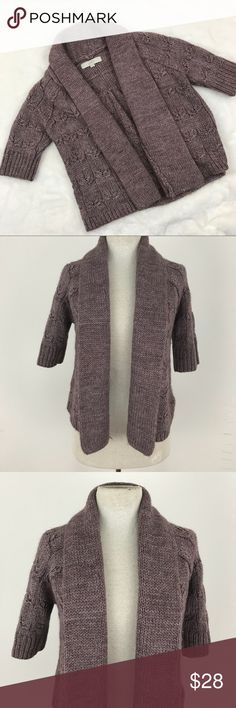 "LOFT Wool Open Cardigan Sweater Preowned with no rips or stains to note!   Size xs Sleeve length  Armpit to armpit 18"" Length 20"" LOFT Sweaters Cardigans"
