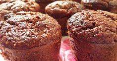 Basic healthy banana banana & cacao muffins recipe. Easy to change it up