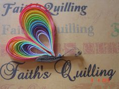 Faith's Quilling : Quilled Butterfly & Peacock
