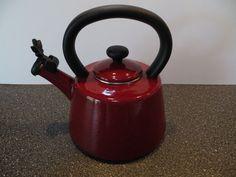 Paula Deen Signature Enameled 2 Quart Whistling Tea Kettle Cranberry #PaulaDeen