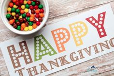 Thanksgiving Kid's Table Activity