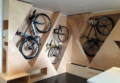 space-saving bike storage ideas for small apartments. Indoor bike storage solutions are for people who can't part with their bicycle. Garage Storage, Storage Spaces, Storage Hooks, Wall Storage, Hidden Storage, Loft Storage, Extra Storage, Garage Velo, Bike Storage Solutions