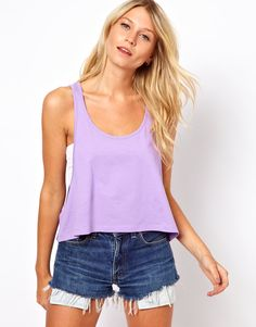 ASOS Cropped Swing Tank | More pastel lusciousness here: http://mylusciouslife.com/prettiness-luscious-pastel-colours/