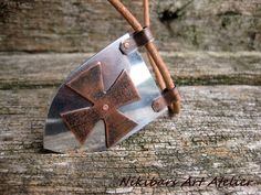 Cross Templar Necklace Templar Knight Cross by NikibarsNatureArt