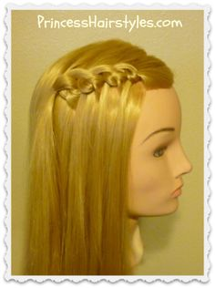 Knotted waterfall or feather braid tutorial